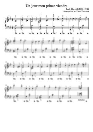 Frank Churchill - Un jour mon prince viendra - Partition piano intermédiaire