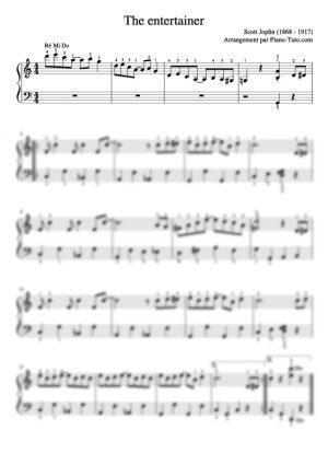 Scott Joplin - The entertainer - Partition piano facile